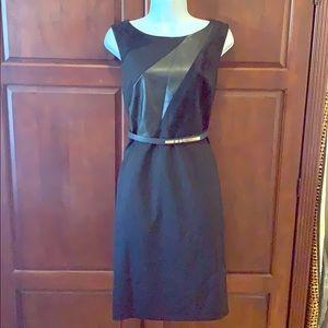 Calvin Klein midi black dress